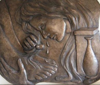 Woman Anointing Jesus Feet 2